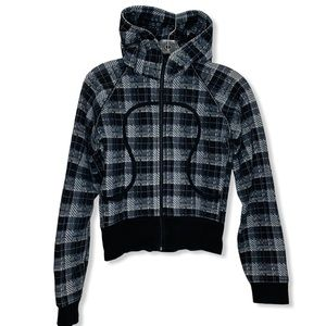 LULULEMON Jacket Checked Scuba Hoodie